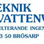 Logotyp Va-Teknik & Vattenvård med adress